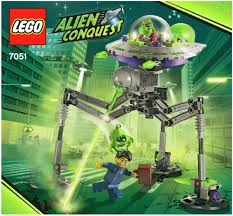 space alien conquest lego tripod invader instructions 7051