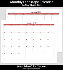 8 12 x 11 printable monthly 2018 calendar printable calendar