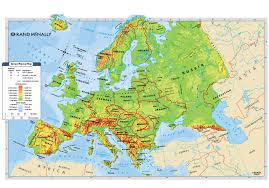 France Physical Map by Geography The Middle Ages