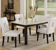 Marble Dining Room Tables Homelegance Archstone 60 Inch Dining Table W Faux Marble Top