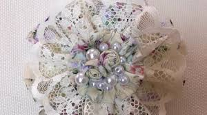 Chic Flower How To Make Country Shabby Chic Flowers Tutorial Youtube