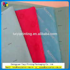 satin wrap tissue paper customized printed cheap satin wrap tissue paper for garments