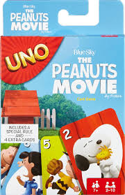 peanuts uno card gift for snoopy fans beagles and blankets