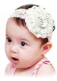 headband online white net headband with a big flower for newborn princess by