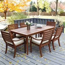 Design Wooden Outdoor Furniture by Simple Bistro Patio Design With Wooden Outdoor Dining Sets And