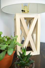 Wooden Table Lamp And Chic Wooden Table Lamp Diy