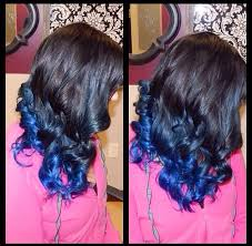 weave hairstyles with purple tips how to get blue tips on the end of black hair hairstylec