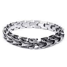 stainless steel snake bracelet images Punk snake shaped 316l stainless steel bracelet mens jewelry at jpg