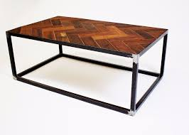 Parquet Coffee Table Industrial Reclaimed Mahogany Parquet Coffee Table On Steel Celia