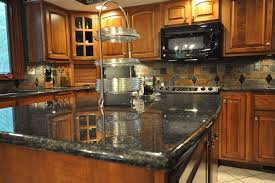 slate tile kitchen backsplash slate tile backsplash kitchen eclectic with granite countertop