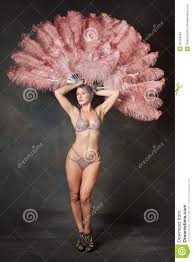 feather fans burlesque dancer with feather fans stock photo image 50164584
