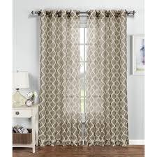 Sheer Grommet Curtains Window Elements Quatrefoil 96 Inch Printed Sheer Grommet Curtain