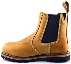 mens dickies leather dealer chelsea slip on safety ankle work