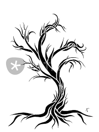 leafless tree graphic illustration prints and posters by abby