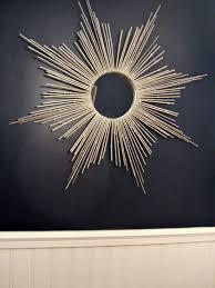diy starburst mirror using silver painted bamboo sticks a bundle