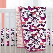 modern butterflies crib bedding carousel designs