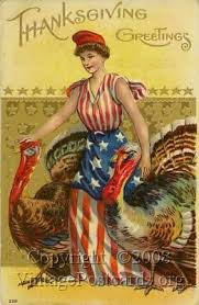 happy thanksgiving from liberty vintage postcards postcard
