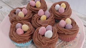 easter chocolate cupcakes with mini eggs janmary