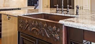 copper kitchen sink faucets artistic copper sinks how to find the right kitchen sink