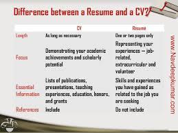 Resume Length Resume Vs Cv