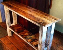 Entryway Table Rustic Entry Table Etsy