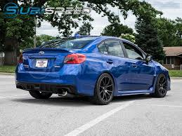 2015 wrx sti aftermarket wheel invidia n1 racing single exit exhaust titanium tip 2015 wrx