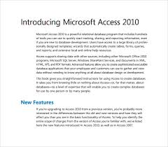 sample microsoft access templates 6 free documents in pdf