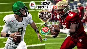 college football thanksgiving day ncaa football 15 2 oregon vs 3 fsu 2015 rose bowl gameplay