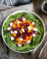 roasted fall vegetable salad with maple balsamic vinaigrette