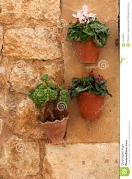 unique plant pots hanging plant pots with flowers stock photo image 34778812