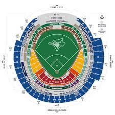 Rogers Center Floor Plan | seating map mlb com