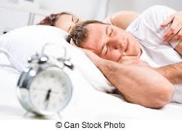 Man Sleeping In Bed Boyfriend Looking At His Girlfriend Sleeping In Bed Stock