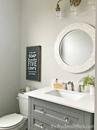 Powder Room Towels - first room reveal in the new house from thrifty decor