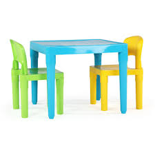 kids plastic table and chairs tot tutors playtime 3 piece aqua kids plastic table and chair set