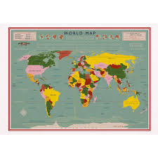 World Map Blank World Map Card Dotcomgiftshop