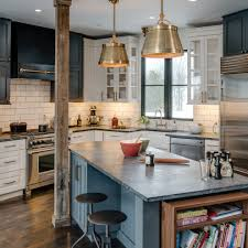 amazing notched shape black color soapstone kitchen countertops