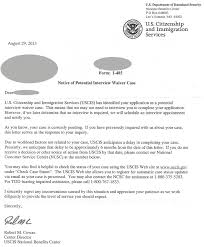 uscis notice of potential interview waiver immigration road blog