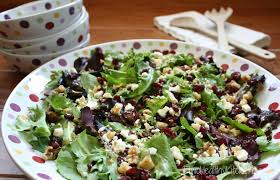 Garden Salad Ideas Salad With Nuts Feta And Cranberries Two Ways
