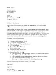 address on cover letter sample cover letter for i 130 petition cr 1 visa