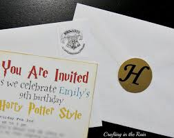 harry potter birthday party crafting in the rain