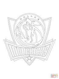 dallas mavericks logo coloring page free printable coloring pages