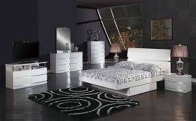 King Platform Bed Set White Lacquer King Bed Modern Platform Beds Modern Platform