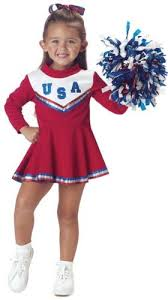 Cheerleader Costume Halloween Amazon Child U0027s Toddler Red Cheerleader Halloween Costume
