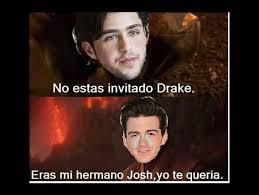 Memes De Drake - drake josh memes despiadados porque josh peck no invit祿 a drake