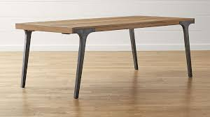 Grey Extendable Dining Table Lakin Recycled Teak Extendable Dining Table Crate And Barrel
