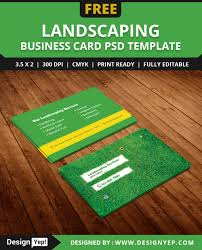 free landscaping business card template psd mata landscaping