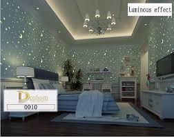 3d luminous stars and the moon for boys girls bedroom wallpaper