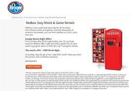 pinned may 26th free redbox dvd rental today at kroger ralphs