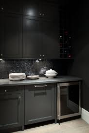 Black Shaker Kitchen Cabinets Black Shaker Cabinets Design Ideas