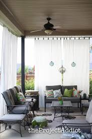 Curtains On Patio How To Make Your Own Diy Outdoor Curtains And Secure Them So They